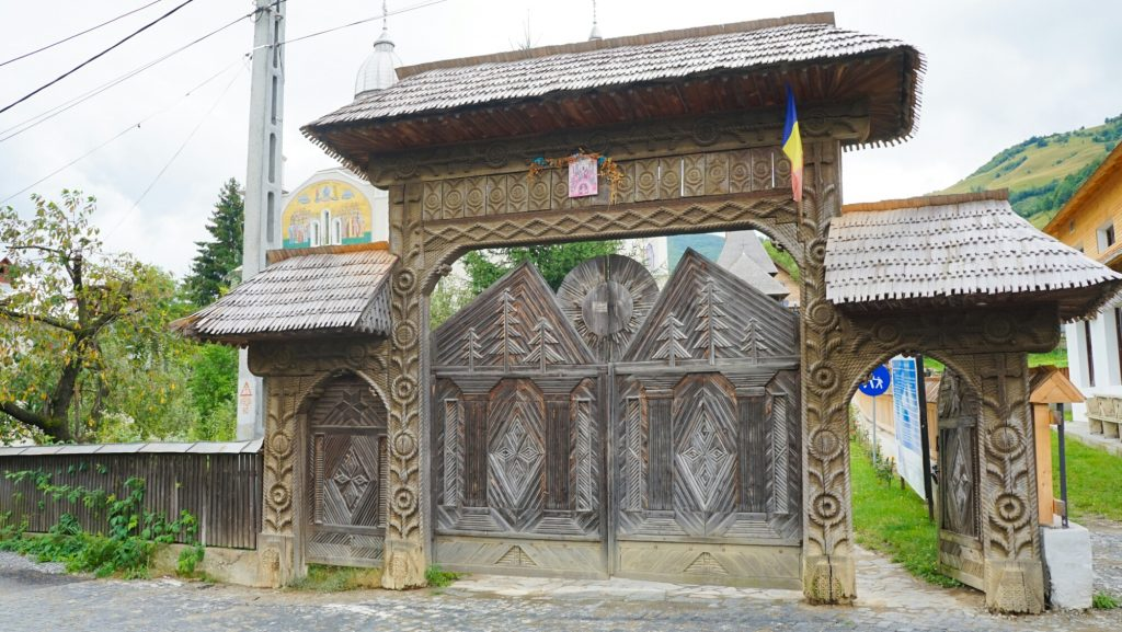 Bârsana Wooden Gates in Maramures Romania