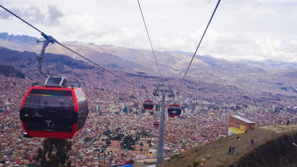 La Paz Cable Car in Bolivia - Worlds Coolest Public Transportation