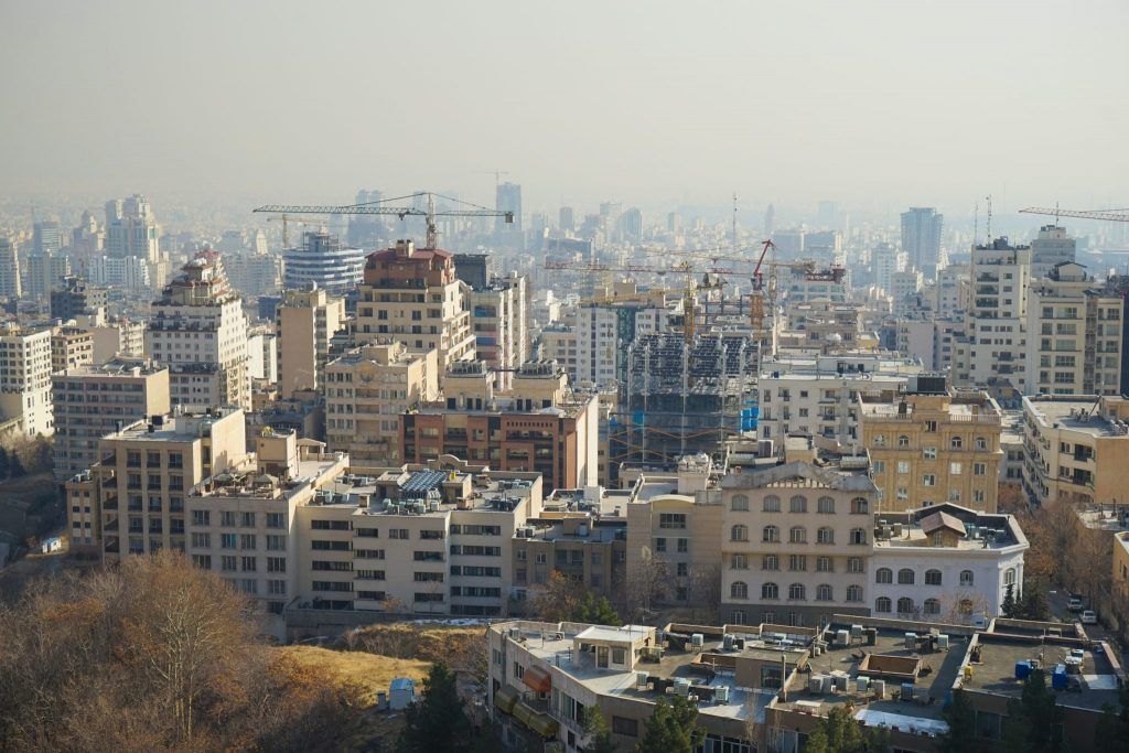 Tehran Skyline in Iran