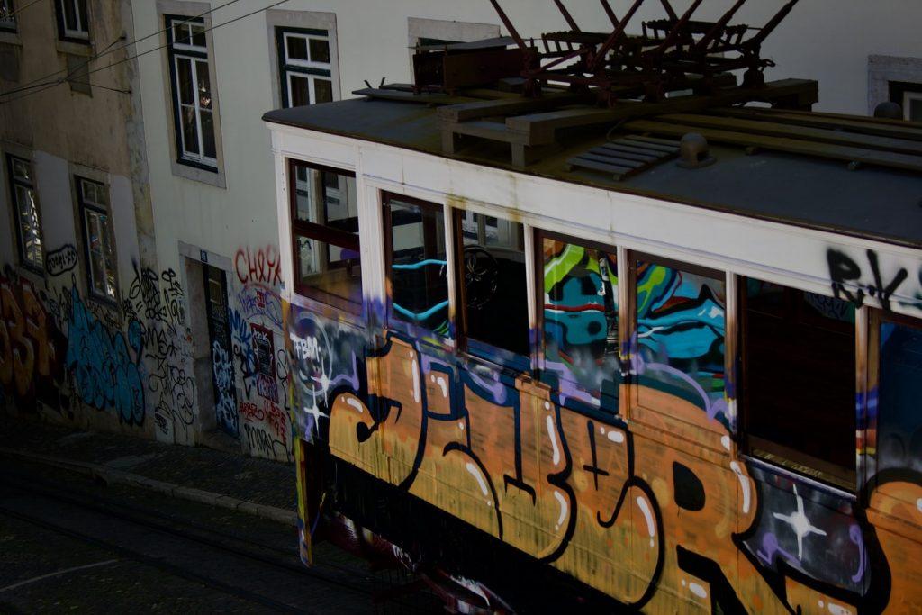 Glória Funicular Lisbon Portugal